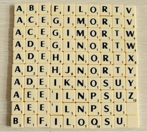 scrabble letter values individual ivory plastic scrabble tile letters a z with 24772