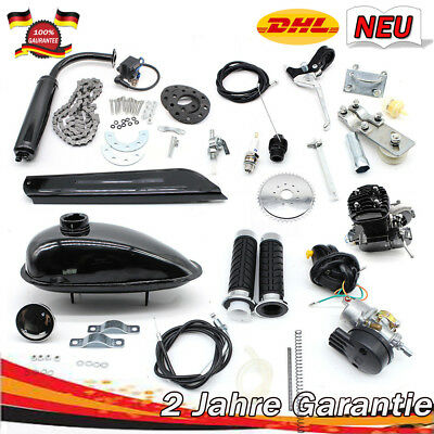 h  motorisierte Fahrrad 2-Takt 50cc Zweitakt Motor  Benzin Gas Motor Kit 30km