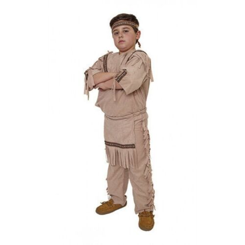 Indian Boy Native American Costume Warrior Chief Child Fringed Shirt Pants Sm-Lg