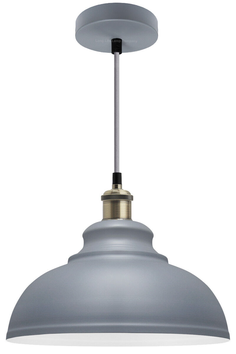 Details about vintage industrial metal ceiling pendant shade modern hanging retro light m0089