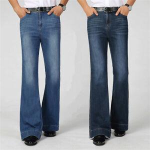 Hommes Patte D éléphant Jean évasé Pantalon 60s 70s Vintage Jambe Large Ebay