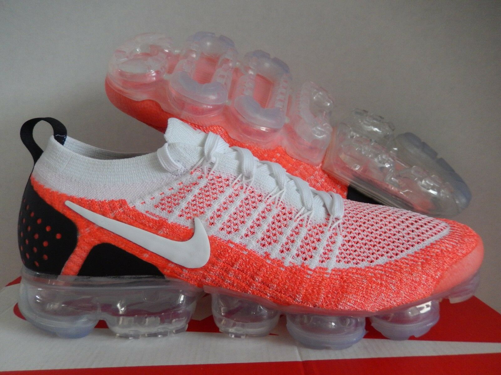 NIKE AIR VAPORMAX 2 FLYKNIT ID WHITE-HOT PUNCH SZ 10.5 [AV0723-991]