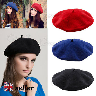 Yd Fashion Women Beanie Beret Winter Warmer French Artist Hats Ski Caps Solid