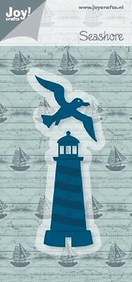 JOY CRAFTS DIE CUTTING & EMBOSSING STENCIL -  SEASHORE - LIGHTHOUSE - 6002/0419