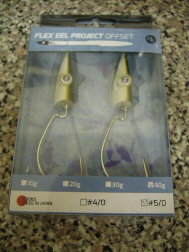 Hooker Flex Eel Project Offset 50g sea fishing lures wide gape
