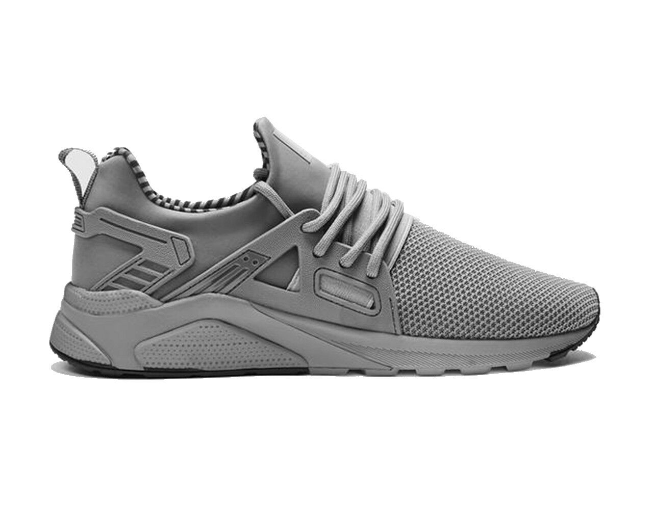 Certified London CT8000 Runner Grey Mono Mens Trainers Gym Shoes