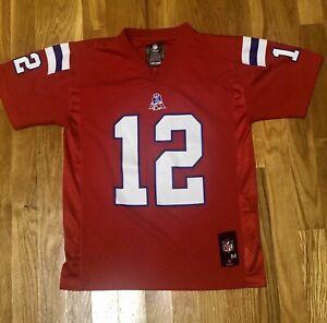 Tom Brady New England Patriots Youth Medium Red Jersey NFL Team ...