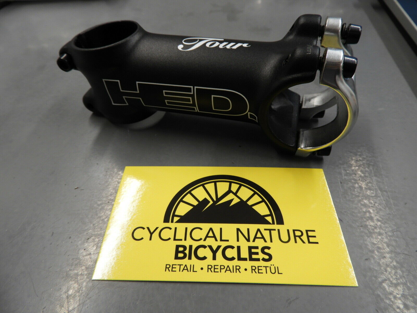 HED Tour Alloy Bicycle Stem 31.8mm Clamp 6 Degree 80mm Length