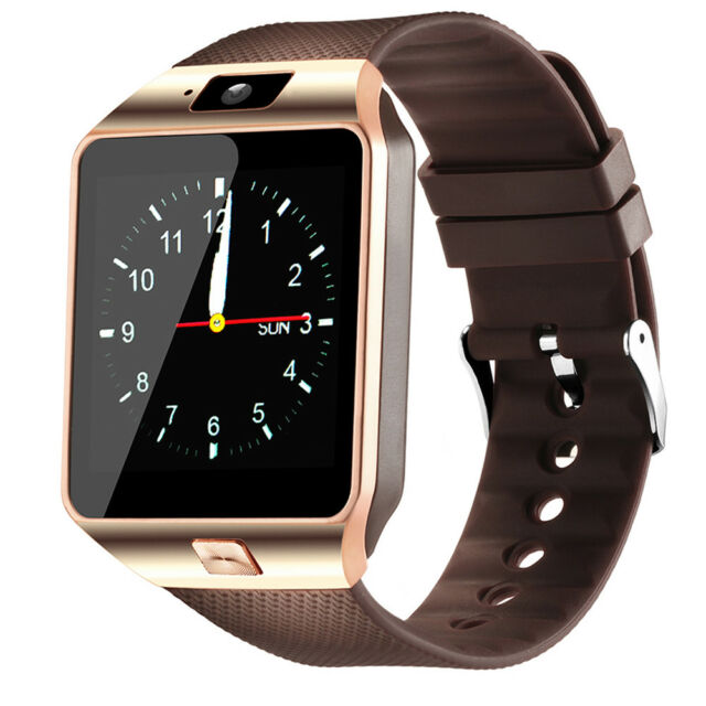 Men Smart Watch GSM Phone Support sim card slot for Samsung Note 9 LG G6 Q8 add9e64372e7