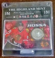 Marian Hossa Chicago Blackhawks NHL Silver Coin Acrylic Display Stand