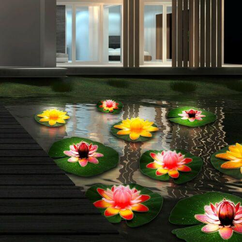 9er Set See Rosen Lampen Außen Bereich Beleuchtung Wasser Leuchten schwimmend