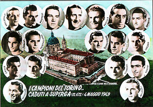 CARTOLINA-D-039-EPOCA-I-CAMPIONI-DEL-TORINO-CADUTI-A-SUPERGA-1949-1960-ca