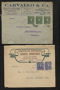 Venezuela 2 ad covers to US MM0519