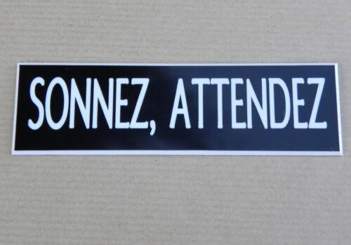"""medium format Etched nameplate /""""ring wait/' 2 versions"""