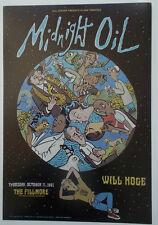 MIDNIGHT OIL FILLMORE POSTER Will Hoge ORIGINAL BILL GRAHAM F481 Dusty Cox