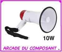 Megaphone 10w Porte Voix Avec Fonction D`enregistrement (81041-1) Poids 1,200kg