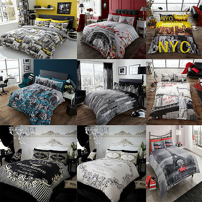 Duvet/Quilt Cover Set With Pillow Cases Bed Quilt Cover Set New City Styles Set