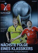 Programm Supercup 2013 Borussia Dortmund - Bayern München