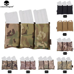 EmersonGear-Tactical-Fast-Draw-MOLLE-Triple-Open-Top-5-56-Magazine-Pouch-Holster