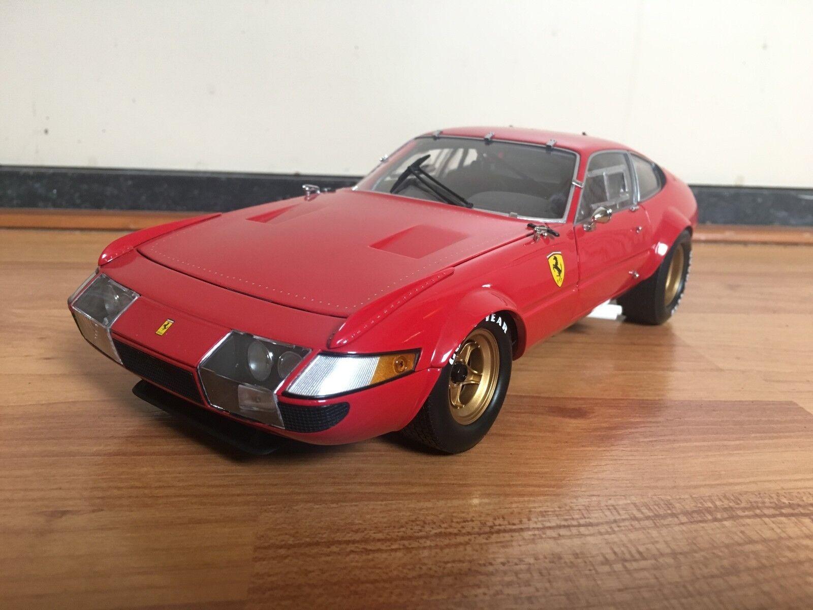 1 18 Kyosho Ferrari 365 GTB GTB GTB 4 Competizione plain body red 08163R NO BOX 25eccf