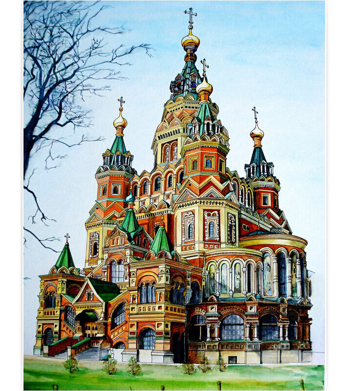 1000 Piece Deluxe Jigsaw Puzzle Russia The Cathedral of St. Brazil YC1366