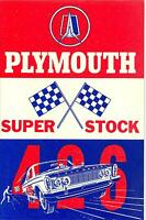 1963 Plymouth Super Stock 426 Owner's Manual Supplement