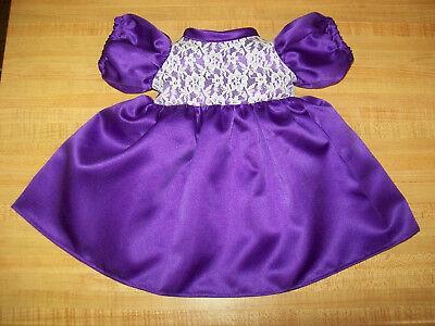 "BRIDE BRIDESMAID DRESS BALLGOWN PURPLE for 16-18/"" CPK Cabbage Patch Kids"