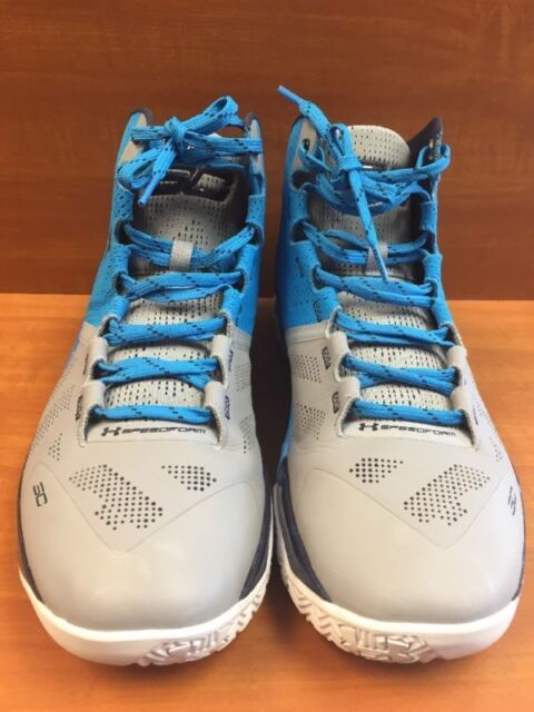 """quality design dd78d 2027b UA Under Armour Steph Curry 2 """"Carolina Panthers"""" Steel/Blue 1259007-036  Size 13"""