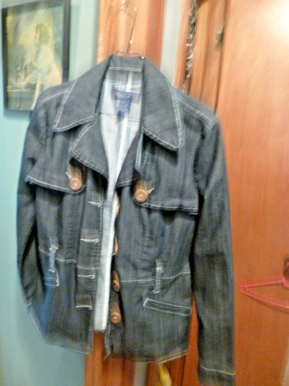 BACCINI Button Down Denim Jacket NWOT Medium NICE!