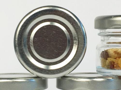 90 mini chute Verres 30 ml pots de confiture bocaux einweckgläser Argent