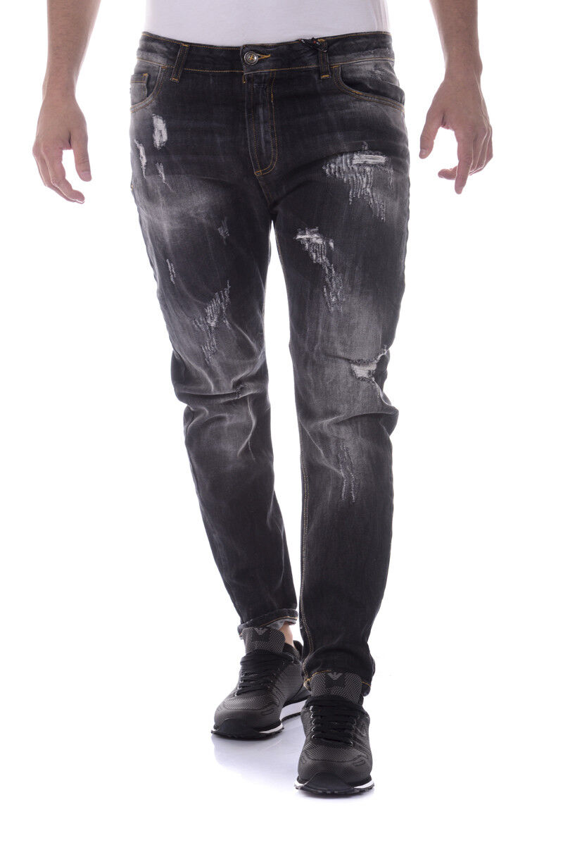 9ca15866 I'M C Cotone MADE IN ITALY men black ALI3332 Jeans Couture nfhxiy6898-Jeans