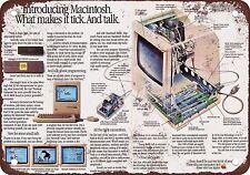 "7"" x 10"" Metal Sign - 1984 Apple Macintosh Ad - Vintage Look Reproduction"