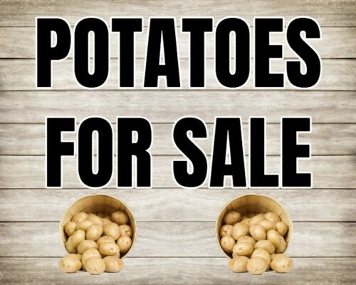Pommes de terre pour la vente de terre ferme paysan Plaque Métal Tin Signer d/'autres sont mis en vente 2428