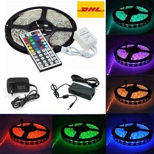 2m-30m-LED-5050-30-60-LEDs-m-Strip-Band-Leiste-Lampe-Streifen-Controller-Trafo