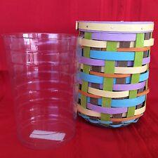 FOREVER Spring Weave Vase Basket & Protector Longaberger NEW great for Easter