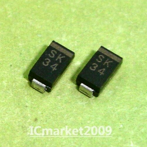 50 PCS SK34 SMA DO-214AC SCHOTTKY BARRIER RECTIFIER SMD Diodes
