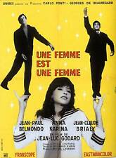 A WOMAN IS A WOMAN Movie Promo POSTER French Jean-Claude Brialy Anna Karina
