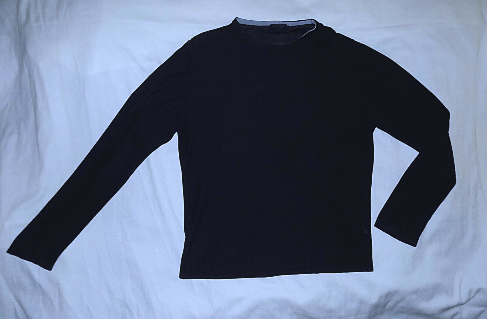 LANVIN Paris -100% Pima Cotton Knit Sweater-Dark Navy-Size Small-Nice-Authentic