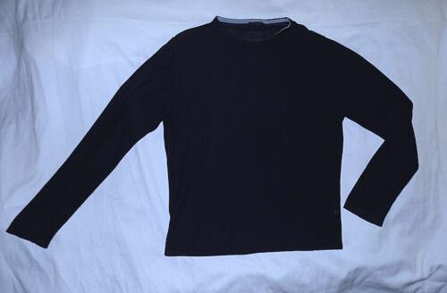 algodón Azul y 100 bonito Suéter marino auténtico punto de Lanvin de Paris Pima ¡Pequeño oscuro H410q1