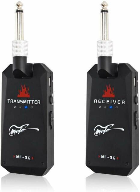 CXMM Sistema Inal/ámbrico UHF Wireless Guitar Guitarra Audio Transmisor Receptor Negro 20hz-20khz para La Guitarra El/éctrica Bajo Viol/ín