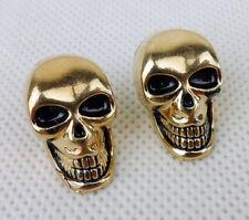 Pair Metal 3D Skull Pin Brooch Skull Collar Lapel pin Motorcycles Skull Pin-D849