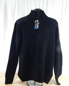NWT-Men-039-s-Buffalo-1-4-Zip-Long-Sleeved-Sweater-Jacket-w-Mock-Turtleneck-READ