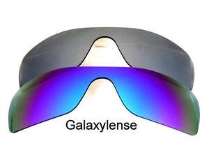 600685476c Galaxy Replacement Lenses for Oakley Batwolf Blue Titanium Polarized ...