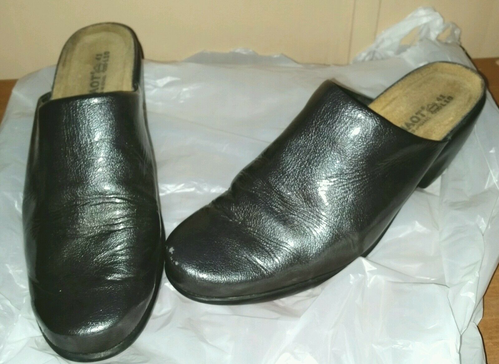 Cute NAOT Größe 41 (10-10.5) Heel Mule Clogs Shiny Gray Made  In Israel