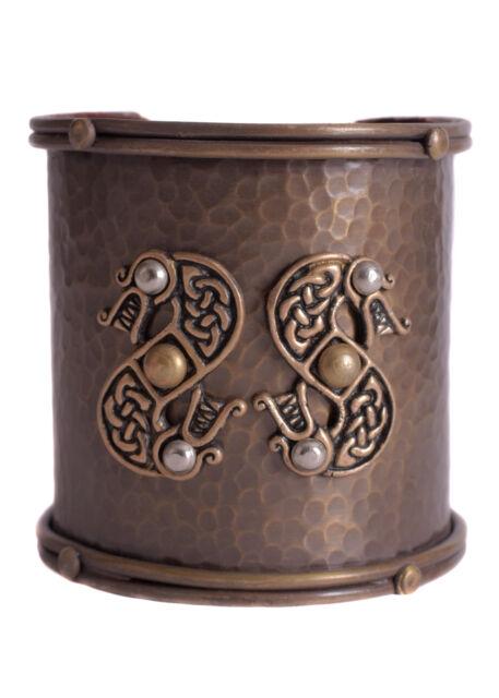 Breiter Wikinger Armreif mit keltischem Schlangenmotiv - Vikings - Mittelalter