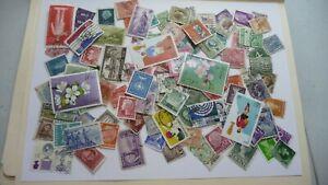 2130-lot-100-timbres-seconds-plusieurs-pays