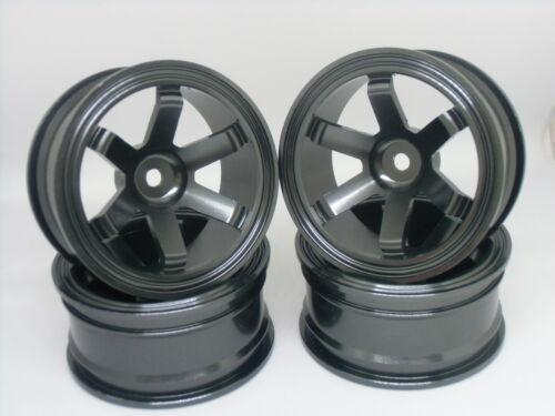 Aluminum Wheel Rims 108 Gray Tire Hubs 4PCS Fit RC HSP HPI 1:10 On-Road Car