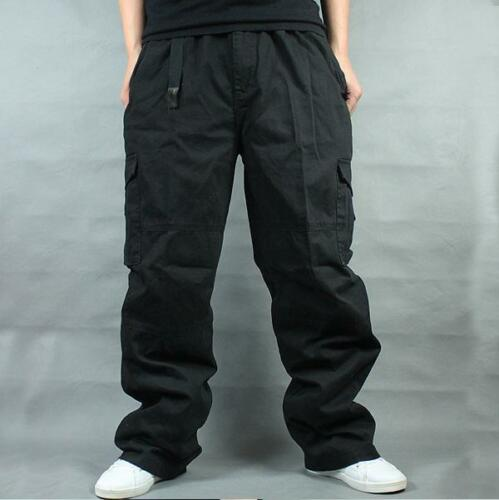 Plus Military Men Long Pants Loose Baggy Carpenter Overall 100/% Cotton Trousers