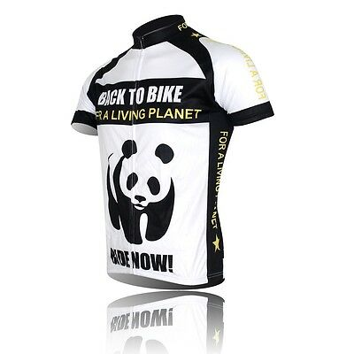 Panda Professional Cycling Bike Short Sleeve Clothing Bicycle Jersey Top Shirt