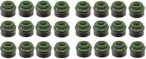 Audi-Quattro-Q7-A3-A4-A5-A6-A7-A8-Q5-S4-S5-SQ5-TT-24x-Valve-Stem-Seal-6mm-OEM